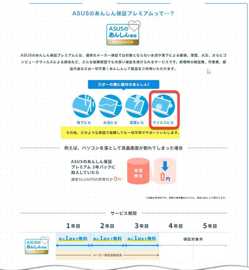 ZenBookシリーズとVivoBookシリーズを購入者対象にあんしん保証プレミアム(3年版)をプレゼント!