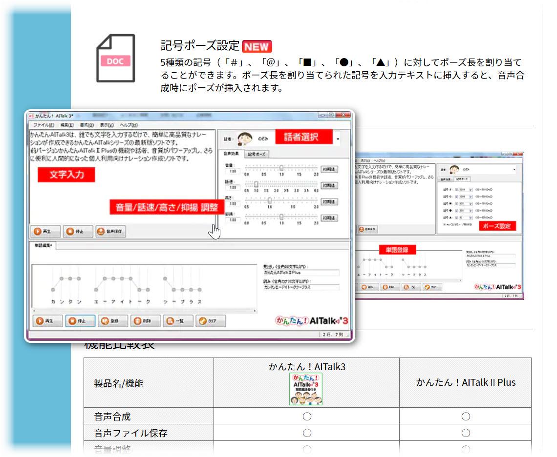 「かんたん!AITalk3 5話者パック」が1,980円!